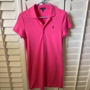 Ralph Lauren polo pink shirt dress